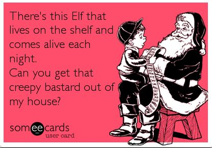 Santa and Elf on the shelf